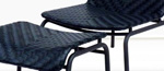 PARALEL LOUNGE & OTTOMAN CHAIR (1BLACK) by Attradha Co.,Ltd.
